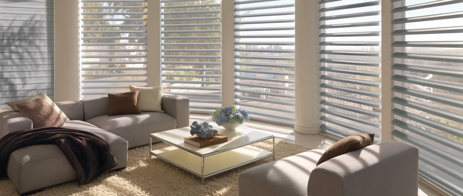 Satin Metallic Glacier Window Blinds