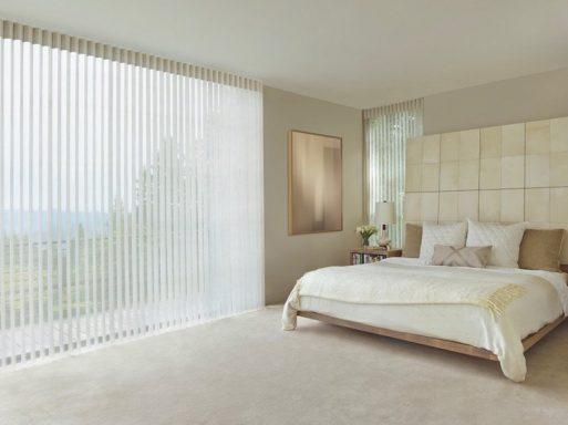 Terra Bedroom Room Darkening Vertical Blinds - Open