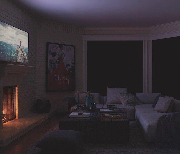 Media Room Darkening blinds