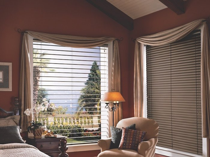 Draper and Valances for Bedroom Window
