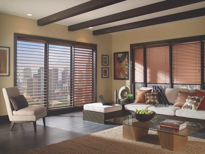 Espresso Window Treatments Living Room