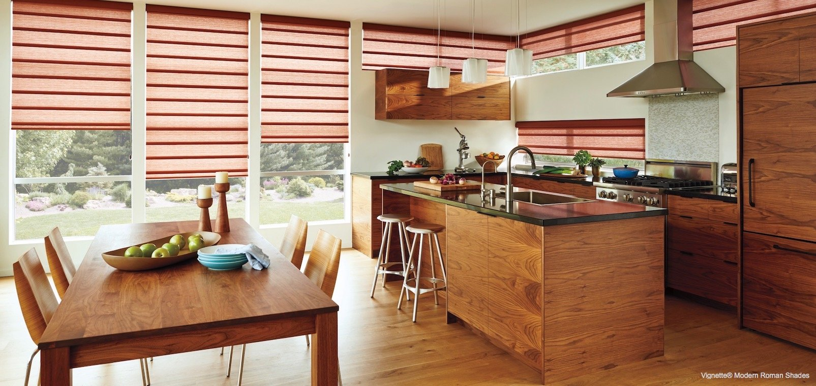 Compatible Window Treatments With Kitchen Table Design