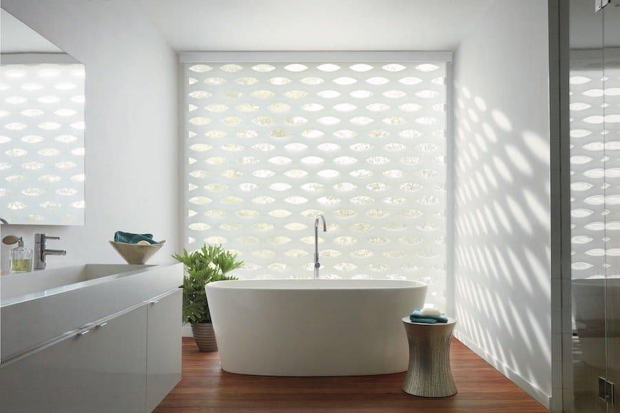Spa Bathroom Window Coverings