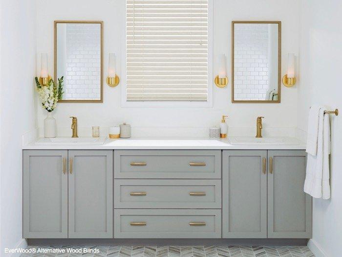 Standard Cordlock Faux Wood Bathroom