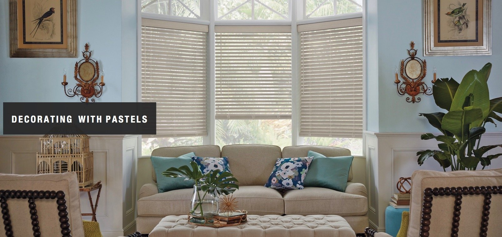 Compatible Window Treatments With Pastel Home Decor